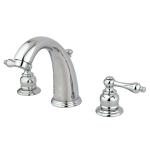 Chrome Metal Lever Twin Handle Widespread Lavatory Faucet with Brass Pop-Up