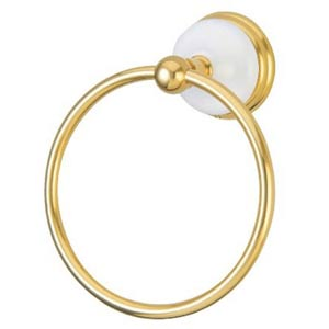 Boston Polished Brass 6-Inch Towel Ring