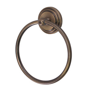 Manhattan Vintage Brass 6-Inch Towel Ring