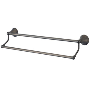 Copenhagen Oil Rubbed Bronze 18-in Dual Towel Bar