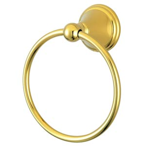 Madison Polished Brass 6-Inch Towel Ring