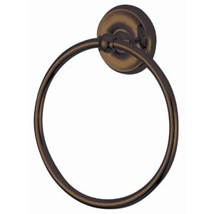 Elizabeth Oil Rubbed Bronze 6-Inch Towel Ring