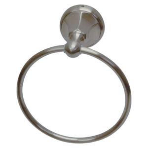 New York Satin Nickel Towel Ring