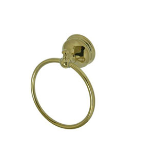 Naples Polished Brass Bronze 6-Inch Towel Ring