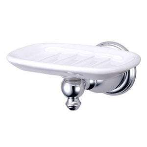 English Chrome Soap Dish