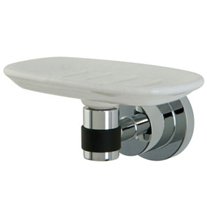 Frankfurt Polished Chrome Soap Dish With 5/8-in Rubber Sleeve