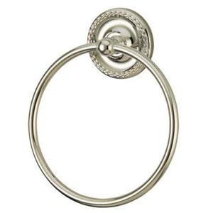 Laurel Satin Nickel 6-Inch Towel Ring