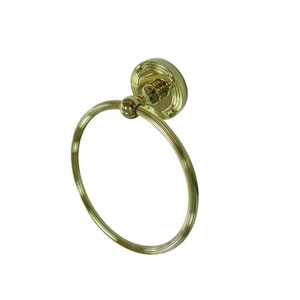 Georgian Polished Brass 6-Inch Towel Ring