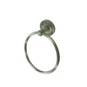 Georgian Satin Nickel 6-Inch Towel Ring