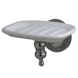 Charlevoix Polished Nickel Wall Mount Soap Dish