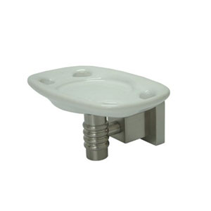 Fortress Satin Nickel Tooth Brush and Tumbler Holder