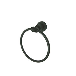 Milano Oil Rubbed Bronze 6-Inch Towel Ring