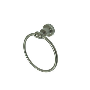 Milano Satin Nickel 6-Inch Towel Ring