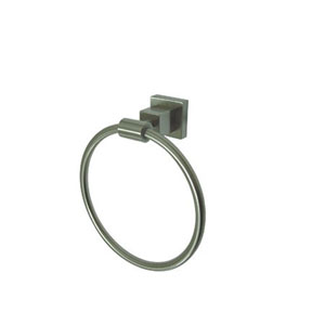 Claremont Satin Nickel 6-Inch Towel Ring