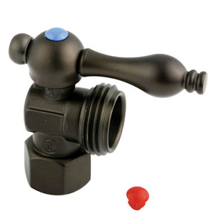 Accents Oil Rubbed Bronze Angle Stop with 1/2-Inch IPS x 3/4-Inch Hose Thread