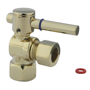 South Beach Polished Brass 1/4-Turn 1/2-in FIP x 1/2-in OD Compression Angle Stop Valve