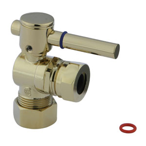 South Beach Polished Brass 1/4-Turn 5/8-in OD Compression x 1/2-in or 7/16-in Angle Stop Valve