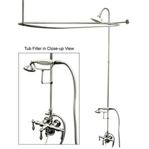 Hot Springs Chrome Down Spout Shower Package with Metal Levers