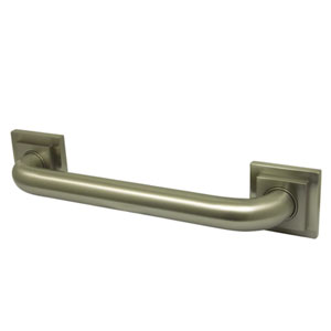 Tetragon Satin Nickel 32-Inch Decorative Grab Bar