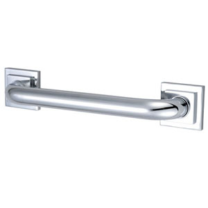Tetragon Chrome 36-Inch Decorative Grab Bar