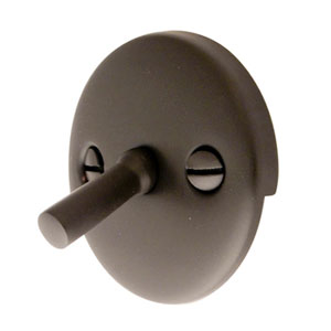 Accents Oil Rubbed Bronze Trip Lever 2 Hole with Trip Lever and Round Plate