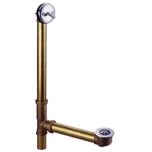Accents Polished Chrome 18-Inch Trip Lever Waste & Overflow with Grid