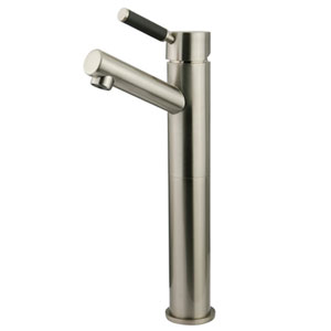 Nu-Vogue Satin Nickel Single Handle Vessel Sink Faucet