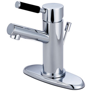 Nu-Vogue Chrome Single Handle 4-Inch Centerset Lavatory Faucet with Retail Pop-up