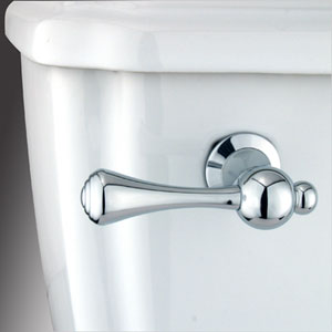 Chrome Buckingham Decorative Tank Lever, Arm Designed For Limited Adjustment