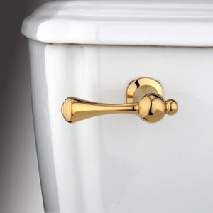 Polished Brass Buckingham Decorative Tank Lever, Arm Designed For Limited Adjustment