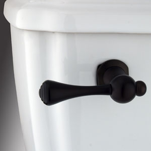 Oil Rubbed Bronze Buckingham Decorative Tank Lever, Arm Designed For Limited Adjustment