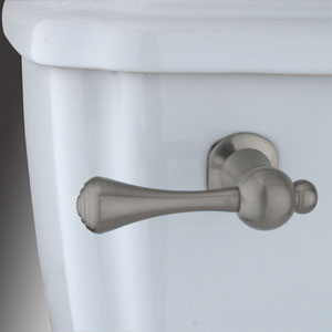 Satin Nickel Buckingham Decorative Tank Lever, Arm Designed For Limited Adjustment
