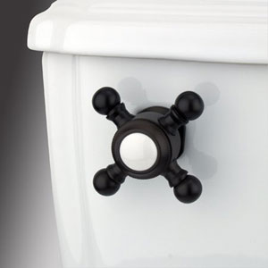 Oil Rubbed Bronze Buckingham Cross Decorative Tank Lever, Arm Designed For Limited Adjustment