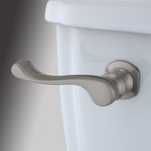 Satin Nickel Decorative French Tank Lever