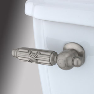 Satin Nickel Decorative Georgian Tank Lever
