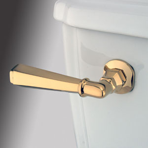 Polished Brass Decorative Hex Tank Lever
