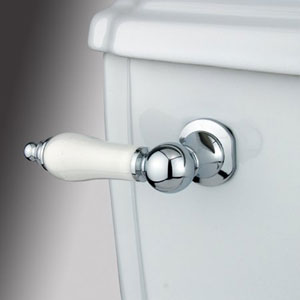 Chrome Decorative Porcelain Tank Lever
