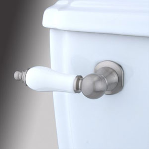 Satin Nickel Decorative Porcelain Tank Lever