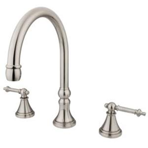 Albany Satin Nickel Adjustable Spread Roman Tub Filler with Templeton Lever