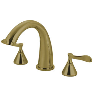 Marseille Polished Brass Roman Tub Filler