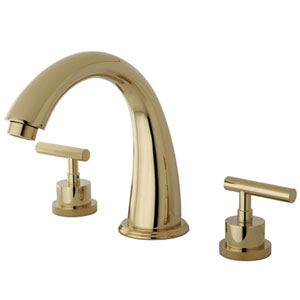 Sydney Polished Brass Roman Tub Filler