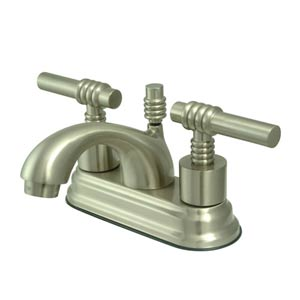 Milano Satin Nickel Centerset Bathroom Faucet