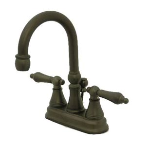 Madison Oil Rubbed Bronze Bar Faucet with Metal Handles