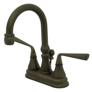 Syracuse Oil Rubbed Bronze Two Handle 4-Inch Centerset Lavatory Faucet with Brass Pop-up