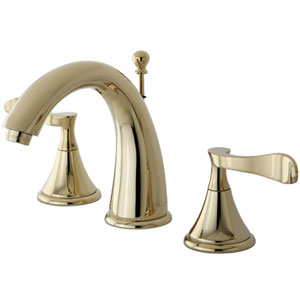 Marseille Polished Brass 8-16-in Double Handle Widespread Lavatory Faucet