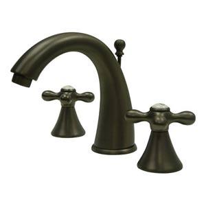 St. Regis Oil Rubbed Bronze Bathroom Faucet with Metal Crosses