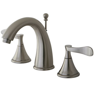 Marseille Satin Nickel 8-16-in Double Handle Widespread Lavatory Faucet