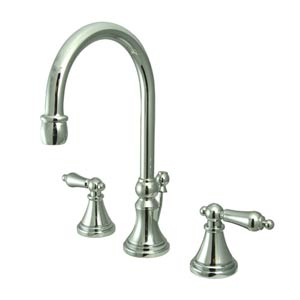 Madison Chrome Bathroom Faucet with Metal Levers