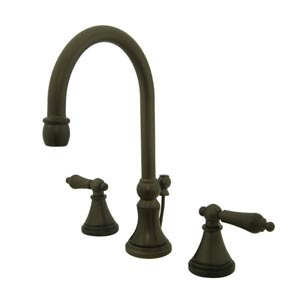 Madison Oil Rubbed Bronze Bathroom Faucet with Metal Levers