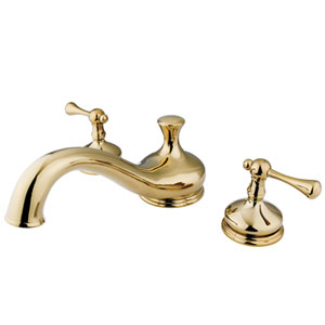Polished Brass Buckingham Lever Roman Tub Filler